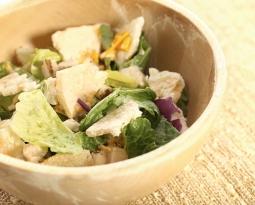 Multigrain crouton salad